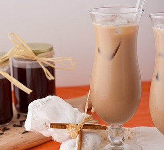 Chai latté glacé