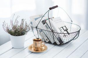 décoration d'un café
